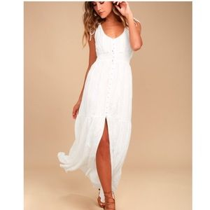 Lulus Time Well Spent White Embroidered Maxi Dress